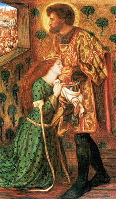 Painting - George And The Princess Sbara by Dante Gabriel Rossetti