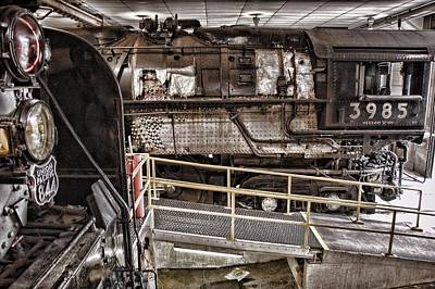 Engine House Photograph - 844 And 3985 In The Union Pacific Steam Shop by Ken Smith