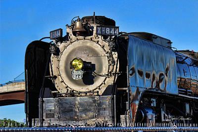 844 Locomotive Art Print by Sylvia Thornton