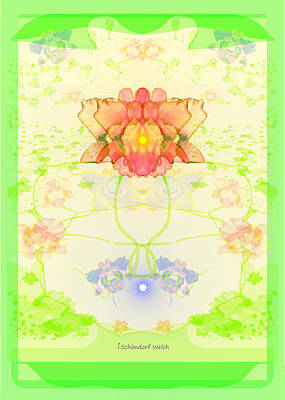 Painting - 847 - A  Pastel Flower Card by Irmgard Schoendorf Welch
