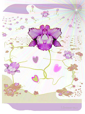 Painting - 848 - Orchid by Irmgard Schoendorf Welch