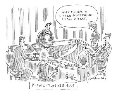 Mick-stevens Drawing - Piano-tuning Bar by Mick Stevens