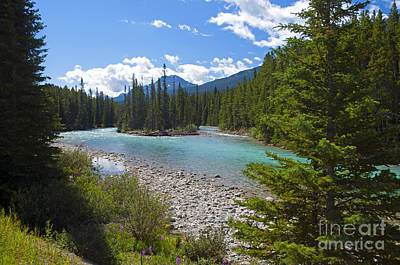 Photograph - 853p Bow River Canada by NightVisions