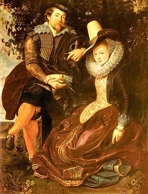 Honeysuckle Painting - Rubens And Isabella Brant by Peter Paul Rubens