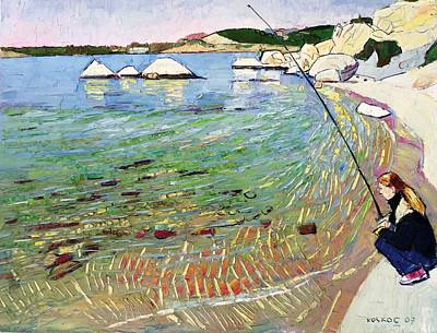 A Fish Out Of Water Painting - Fishing As A Hobby by Artiter Oil Paintings