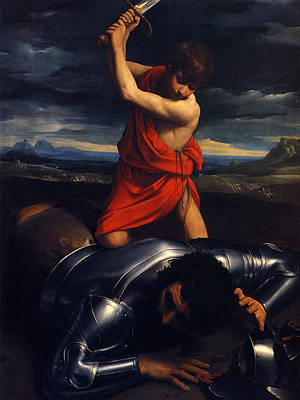 David And Goliath Painting - Guido Reni  by MotionAge Designs