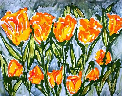 Mann Flowers Art Print by Baljit Chadha