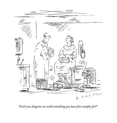 Hospitals Drawing - Can't You Diagnose Me With Something by Barbara Smaller