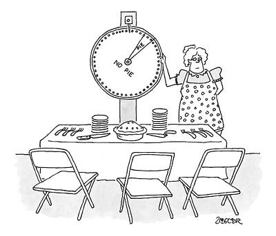 Spinning Drawing - New Yorker February 19th, 2007 by Jack Ziegler