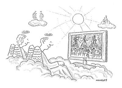 Angel Drawing - New Yorker October 16th, 2006 by Robert Mankoff