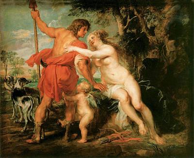 Painting - Venus And Adonis by Peter Paul Rubens