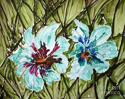 Mann Flowers Art Print by Baljit Chadha