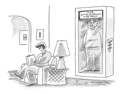 Glass Drawing - New Yorker August 8th, 2005 by Mick Stevens