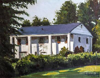 Painting - 8907 Transue Drive Bethesda Maryland Circa 1979 by Pablo Avanzini