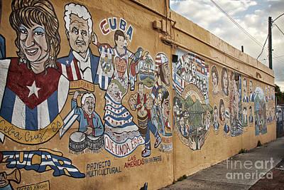 Eyzen Medina Photograph - 8th St Miami Art Wall by Eyzen M Kim