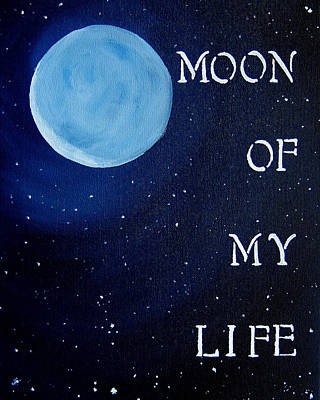 Fire And Ice Painting - 8x10 Moon Of My Life by Michelle Eshleman