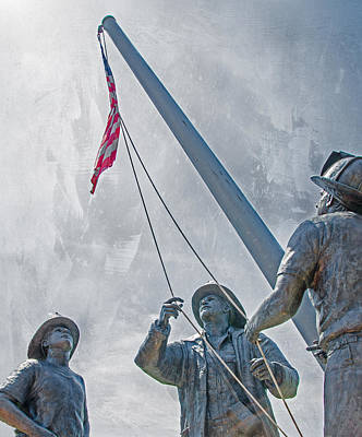 Photograph - 9 - 11 Firefighter Memorial  by Susan  McMenamin