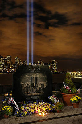 9-11 Monument Art Print by Dave Mills