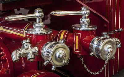 1915 Lafrance Fire Engine  Art Print by Rich Franco