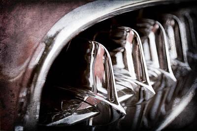 Transportation Photograph - 1957 Chevrolet Corvette Grille by Jill Reger