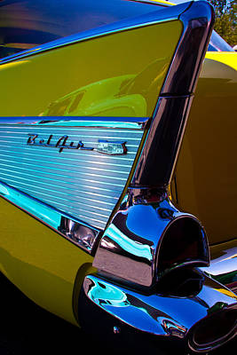 Vintage Cars Photograph - 1957 Chevy Bel Air by David Patterson