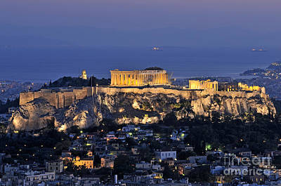 Acropolis Photograph - Acropolis Of Athens During Dusk Time by George Atsametakis
