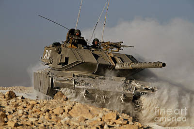 An Israel Defense Force Magach 7 Main Print by Ofer Zidon