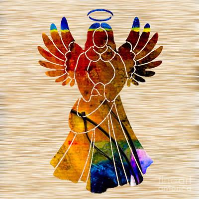 Fantasy Mixed Media - Angel by Marvin Blaine
