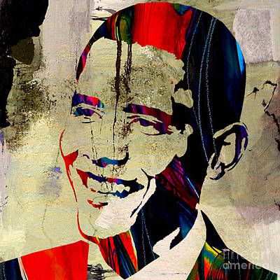 President Barack Obama Mixed Media - Barack Obama by Marvin Blaine
