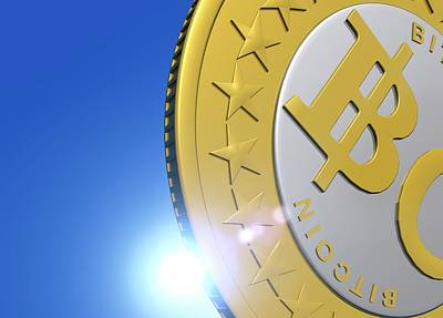 Electronic Photograph - Bitcoin by Victor Habbick Visions
