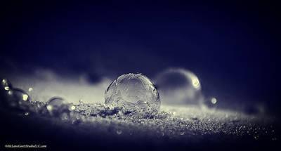 Frost Photograph - Blowing Frozen Soap Bubbles by LeeAnn McLaneGoetz McLaneGoetzStudioLLCcom