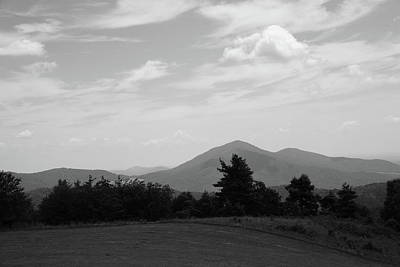 Photograph - Blue Ridge Mountains - Virginia Bw 7 by Frank Romeo