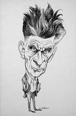 Caricature Of Samuel Beckett Art Print by Celestial Images