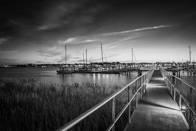 Photograph - Bridge Of Lions St Augustine Florida Painted Bw by Rich Franco