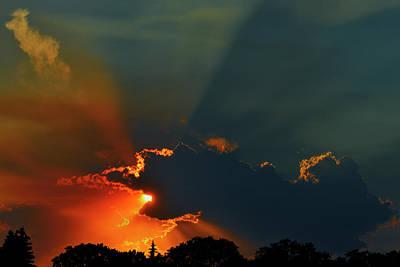 Crepuscular Rays Photograph - Canada, Manitoba, Winnipeg by Jaynes Gallery