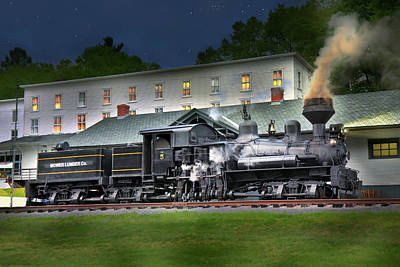 Digital Art - Cass Scenic Railroad by Mary Almond