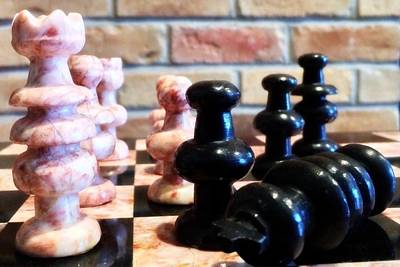 Marble Chess Boards Photograph - Chess Pieces by FL collection
