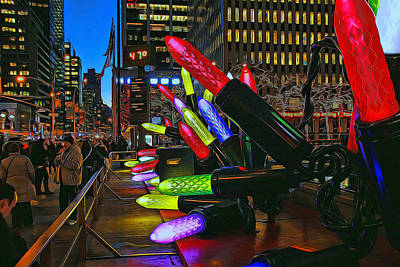 Photograph - Christmas In The City # 2 by Allen Beatty