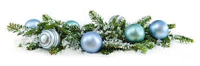 Baubles Photograph - Christmas Ornaments by Elena Elisseeva
