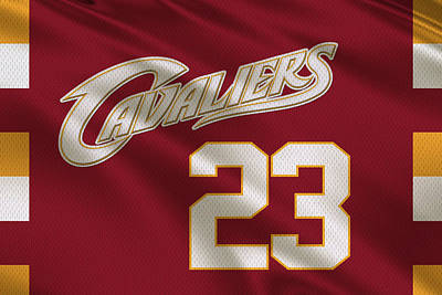 Lebron James Photograph - Cleveland Cavaliers Uniform by Joe Hamilton