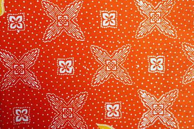 Colorful Batik Cloth Fabric Background  Art Print by Prakasit Khuansuwan