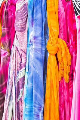 Colorful Textile Art Print by Tom Gowanlock