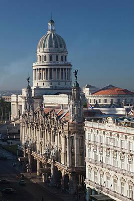 Cuba, Havana, Elevated City View Print by Walter Bibikow