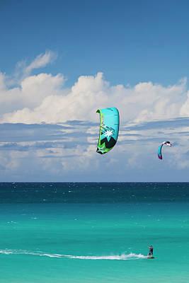 Kite Boarding Photograph - Cuba, Matanzas Province, Varadero by Walter Bibikow