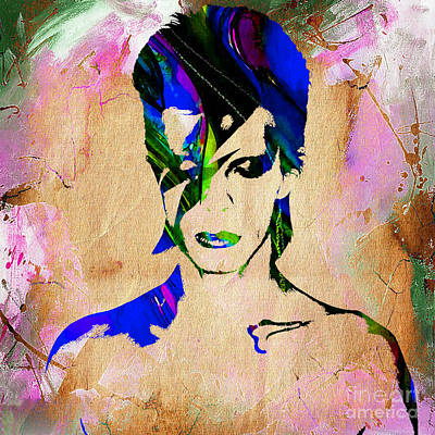 David Bowie Collection Art Print by Marvin Blaine