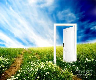 Illusion Photograph - Door To New World by Michal Bednarek