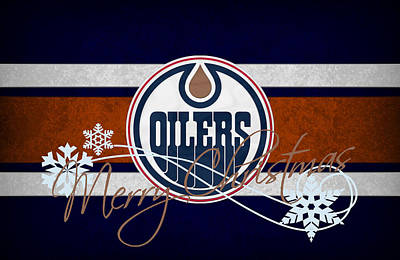 Skating Photograph - Edmonton Oilers by Joe Hamilton