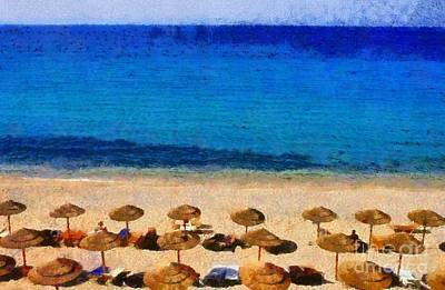 Painting - Elia Beach by George Atsametakis