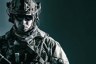 Photograph - Elite Member Of U.s. Army Rangers by Oleg Zabielin