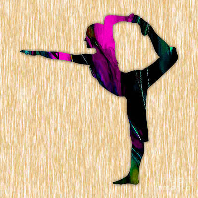 Fitness Yoga Art Print